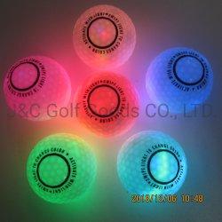 6 색깔은 토치 밤 골프 지속적인 실행을%s 빛에 의하여 활성화된 LED 빛난 골프 공을 교체했다