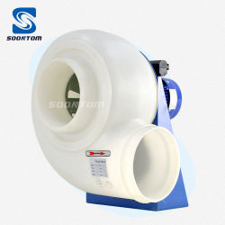 AC ПВХ пластика радиальный вентилятор промышленный центробежный вытяжной вентилятор для химической лаборатории