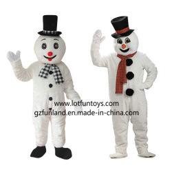 Robe de Noël - Noël Bonhomme de neige de la mascotte de caractère costume avec une écharpe