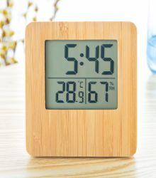 デジタルビッグ LCD 屋内 / 屋外温度計湿度計木製時計