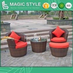 屋外の余暇のソファーのクッション(魔法様式)が付いている一定の藤のソファー
