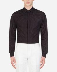 Noir robe formelle le linge de maison de haute qualité Bouton vers le bas de chemises à col 2021 Hommes Chemises