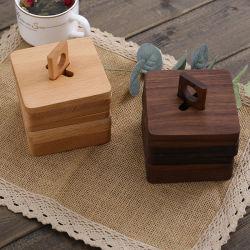 エコフレンドリーセット 6 ピースホルダードリンクコーヒーティーテーブル 木製パレットコースター木製コースターセット