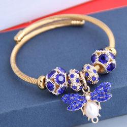 卸し売りステンレス製の宝石類は DIY とサイズを調整する方法ブレスレットをである チャームインゴールドカラーめっきホットセルバタフライブレスレット