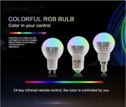 E14e27LED 3wchanging RGBのリモート・コントロールのホーム装飾の照明RGB LEDスポットライトのための魔法の電球ランプ