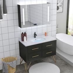 스마트하게 솔리드 우드 욕실 캐비닛 노르딕 싱크 캐비닛 바닥에서 천장까지 이어지는 욕실 배니티