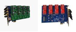 4 puertos GSM CDMA Asterisk Tarjeta PCI Express Analog