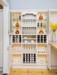 Armadi da cucina di bibite analcoliche personalizzati moderni degli armadi del Governo laterale dei Governi del vino di disegno mobilia di alluminio/di alluminio della cucina