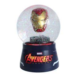 Оптовая торговля Custom полимера чудо Iron man головки фигурка снежный ком смешные фонарем стекла снег земного шара