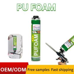 Massa de enchimento de vedante de spray líquido de 500 ml, poliuretano, cola PU Espuma