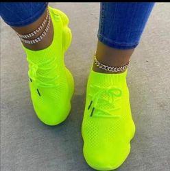 أحذية نساء حذاء رياضة كرة مضرب أنثى عرضيّ إمرأة نيون نساء مدرّب نمو شبكة دنيا [لس-وب]