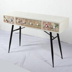 أثاث الشركة المصنعة تصميم جديد الخشب منعكس طاولة فساتين مع الروطان أثاث غرفة النوم في الدرج