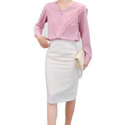 熱い販売の女性のための優雅で明白な普及した毎日の長い袖のワイシャツ