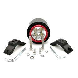 Faro de luz LED de la Motocicleta 22W 3200LM Super Moto de color blanco brillante luz de trabajo faros de niebla DRL