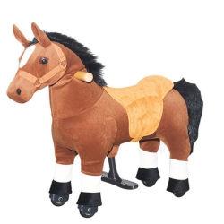 Passeio com animais passeio de peluche Riding Horse Toy para criança brinca nos brinquedos