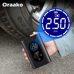 게이지 전자식 자동차 펌프 자전거 연료 펌프가 있는 휴대용 디스크 모터 전자식 스마트 자전거 펌프