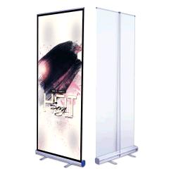 Lujo Glossi personalizados de papel fotográfico 85X200 Retractant Imprimir Lágrima Base Plana enrollar Flex Standee banner de publicidad