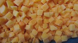 Amarillo duraznos congelados IQF dados de melocotón amarillo Orgánicos de Frutas congeladas
