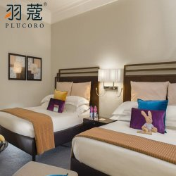 2020 Novo Design Hotel Consolador Defina 100% algodão tamanho Queen roupa de cama