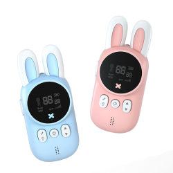 راديو قابل للنقل ثنائي الاتجاه للأطفال 3 كم ووكي توكي للأطفال هدية تخييم/أسرة/أطفال
