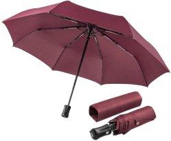 Super resistente al agua, de viaje compacto paraguas automático paraguas Windproof resistente al agua, Extra Fuerte paraguas con bastidor reforzado Windproof