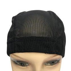 Ajuste de color negro Malla extensible de cúpula de la tapa Unisex para la elaboración de pelucas pelucas