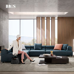 Moderno contemporáneo de lujo italiano muebles de casa Sala de estar esquina seccional Sofá de tela o cuero auténtico