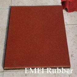 Un revêtement de sol en caoutchouc coloré/Sfety Square/carrés de plancher de caoutchouc pour une aire de jeux de plancher de caoutchouc