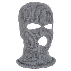 Die 3 Loch-Sturmhaube strickte Gesichts-Deckel-Hut-Winter-Kopfschutz