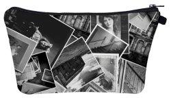 أنثى فنّان طبعة [هلّووين] [غوست ستوري] مستحضر تجميل حقيبة شخصيّة نوع خيش مستحضر تجميل حقيبة تخزين حقيبة بنية حقيبة