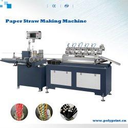 Automatic Multi coupe papier biodégradable jetable Coke Cola paille tuyau tube Making Machine