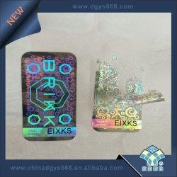 Custom non amovible utilisé autocollant hologramme à usage unique
