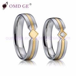Terminais banhados a ouro Suite conjuntos de anéis anéis de prata para Casais