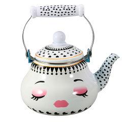 De Beste Verkopende Pot van uitstekende kwaliteit van de Koffie van het Gietijzer van de Keuken van Cookware van de Pot van de Thee van de Ketel van Enamelware van het Meisje van de Schoonheid Kokende