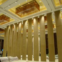 Het houten Glijdende Scherm van de Verdeler van de Verdeling van de Zaal van Muren Akoestische Vouwende Vouwbare