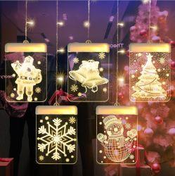 Stringa dell'indicatore luminoso di striscia del ghiaccio della decorazione 3D della casa dell'indicatore luminoso di natale del LED