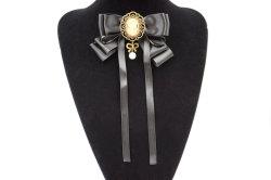 Crystal femmes Broches broches tissu de toile Bowknot Cravate Cravate Brooch Accessoires bijoux (BR-21)