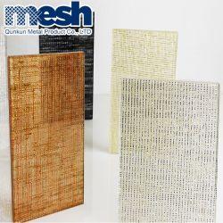 Le verre feuilleté de draperies de maille métallique