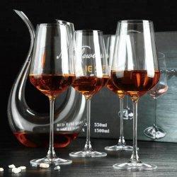 Luxuxgeschenk-Kasten stellte der 1 Stück-Wein-Dekantiergefäß 4 der Stück-Glasbecher-Kristallrotwein-Glaswaren ein
