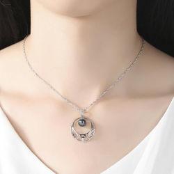 Parel 925 de Zilveren Halsband Wholesales van het Zoet water van de Juwelen van de manier van Tegenhangers
