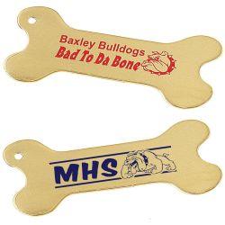 Рекламные Custom пустой или лазерная гравировка логотипа собака кость теги