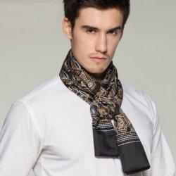 Impresión digital de lujo Mens Pañuelo de seda Fabricación