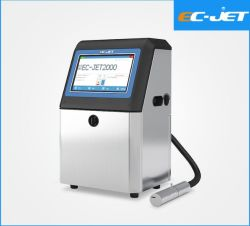 容易なUse 企業の包装の満期日の印刷(EC-JET2000)のための連続的なインクジェット・プリンタよいカラー