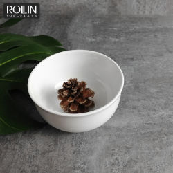 Estilo japonês Branco Puro Boa qualidade ronda de porcelana tigela de arroz