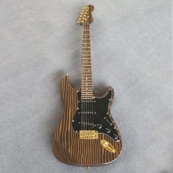 Instrumentos musicales madera Zebra cuello/Fretboard/Body Electric Guitar