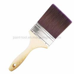 나무로 되는 손잡이 수공구를 가진 순수한 강모 필라멘트 혼합 페인트 붓
