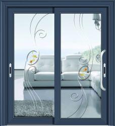 Dois porta corrediça do painel de porta de vidro corrediço de porta do perfil de alumínio