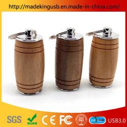 Fashion Logo personnalisé Bouteille de vin des lecteurs Flash USB/disque USB en bois