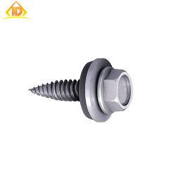 Hexagonales de acero inoxidable personalizado cabeza oblea St2.9~St6.3 tornillo autorroscante