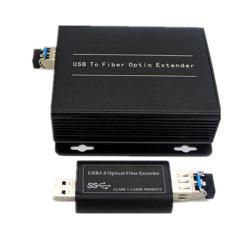 Faser-1port optische Ergänzung der kompakten USB3.0 für USB 5GB 3.0 über 1 Sm/mm Faser bis 250m